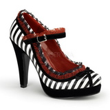 Zwart Wit 11,5 cm BETTIE-18 damesschoenen met hoge hak