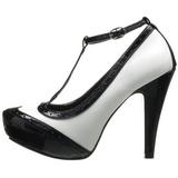 Zwart Wit 11,5 cm BETTIE-22 damesschoenen met hoge hak