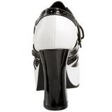 Zwart Wit 11 cm GANGSTER-15 damesschoenen met hoge hak