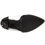 Zwart Wit 13 cm SEDUCE-425 Dames pumps met lage hak