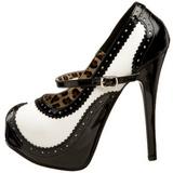Zwart Wit 14,5 cm Burlesque TEEZE-02 damesschoenen met hoge hak