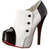 Zwart Wit 14,5 cm Burlesque TEEZE-20 damesschoenen met hoge hak