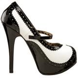 Zwart Wit 14,5 cm TEEZE-02 damesschoenen met hoge hak