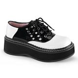 Zwart Wit 5 cm EMILY-303 gothic lolita schoenen plateauzolen