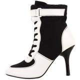 Zwart Wit 9,5 cm REFEREE-125 Dames Enkellaarzen