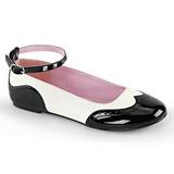 Zwart Wit STAR-22 gothic ballerina platte schoenen