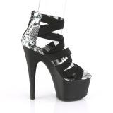 Zwart elastische band 18 cm ADORE-748SP pleaser schoenen met hak