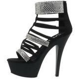 Zwart gladiator 15 cm KISS-294 Sandalen met Hoge Hak