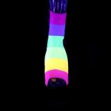 Zwart glitter 18 cm ADORE-1018RBG paaldans enkellaarsjes met hoge hakken