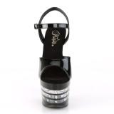 Zwarte hakken 18 cm ADORE-709LNRS pleaser sandalen hoge hakken plateau