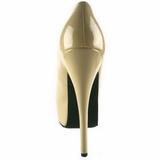 creme Lak 14,5 cm Burlesque BORDELLO TEEZE-06 Plateau Pumps Hoge Hak