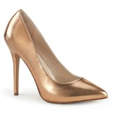 goud rose 13 cm AMUSE-20 Pleaser naaldhak pumps