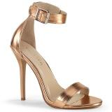 goud rose 13 cm Pleaser AMUSE-10 sandalen met naaldhak