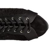 kant stof 15 cm DELIGHT-3025ML overknee laarzen met plateauzool