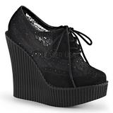 kant stof CREEPER-307 wedge creepers schoenen sleehakken