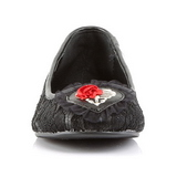 kant stof STAR-25 gothic ballerina platte schoenen